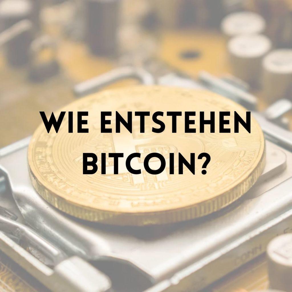 Wie entstehen Bitcoin Halving